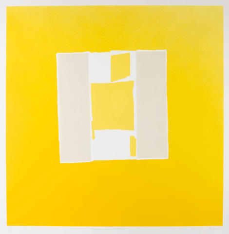 Sandra Blow R.A. (British, 1925-2006) Canvas on Chrome Screenprint in colours with collage, on wove,  signed, titled and numbered 40/125 in pencil, 710 x 710mm (28 x 28in)(I)