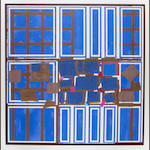 Sandra Blow R.A. (British, 1925-2006) Blue Brown Interweave Screenprint in colours with collage, on wove, signed and numbered 2/125 in pencil, 710 x 710mm (28 x 28in)(I)