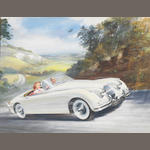 George Bishop (1913-1999); 'Jaguar XK150 Roadster',