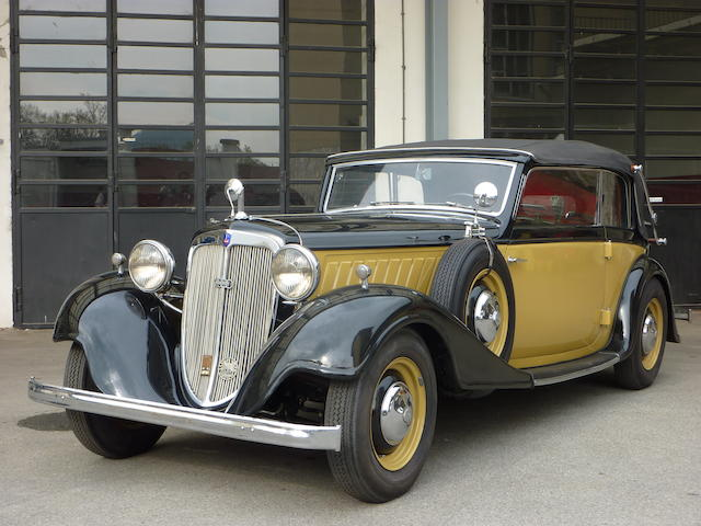 1935  Audi  UW 220 Cabriolet  Chassis no. 7607 Engine no. 66605