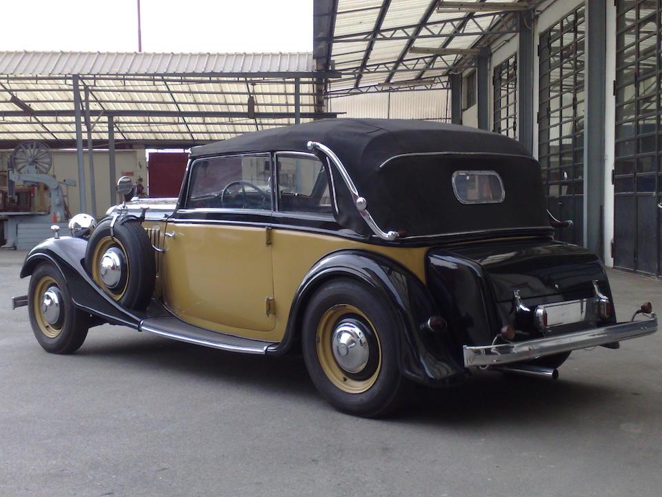 1935  Audi  UW 220 Cabriolet  Chassis no. 7607 Engine no. 66605