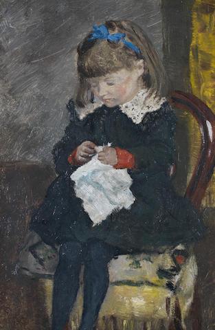 Darío de Regoyos (Spanish, 1857-1913) Portrait of Emma Bogaerts