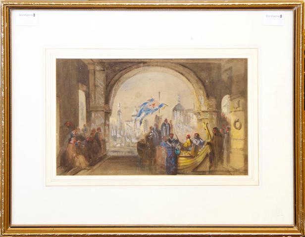 William McAlpine (British, 19th Century) Arrival in Venice