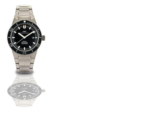 IWC. A fine titanium automatic diver's bracelet watchAquatimer GST, Ref:3536, Case No.2731126, Circa 2000