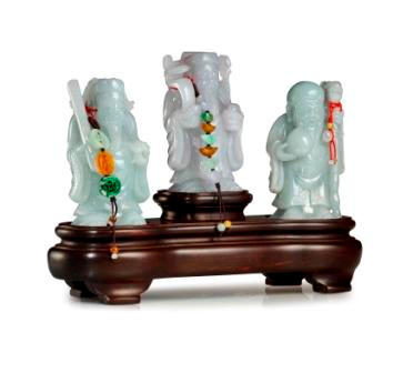 A set of jadeite carvings (3)