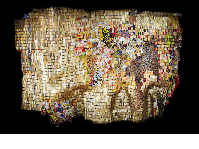 El Anatsui (Ghanaian, born 1944) 'New World Map'