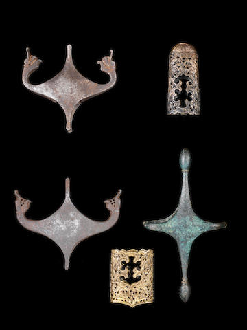 A group of Sword Fittings Persia and India, 17th-19th Century(5)