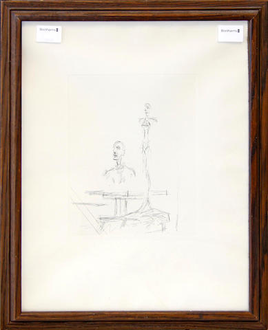 After Alberto Giacometti The Search  re-strike etching from a cancelled plate,