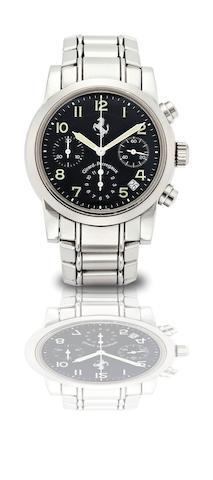 Girard-Perregaux. A stainless steel calendar chronograph automatic bracelet watchFerrari, Ref:8020, Case No.6378, Circa 1998