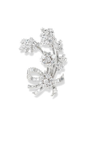 A diamond brooch, by Bulgari
