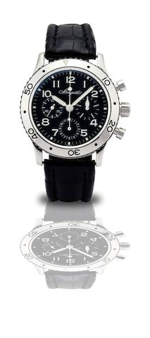 Breguet. A fine stainless steel chronograph automatic wristwatchType XX, Aeronavale, Ref:3800, Case No.55726, Circa 1996