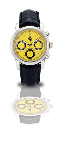 Girard-Perregaux. A fine stainless steel calendar chronograph automatic wristwatch Ferrari, Ref:8020, Case No.AN5018, Circa 2000