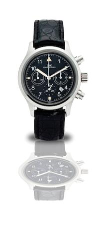 IWC. A fine stainless steel calendar chronograph automatic wristwatch Der Fliegerchronograph, Ref:3706, Case No.2602305, Circa 1998