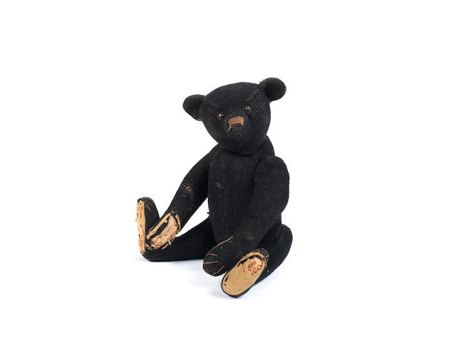 Extremely rare Steiff black mourning Teddy bear