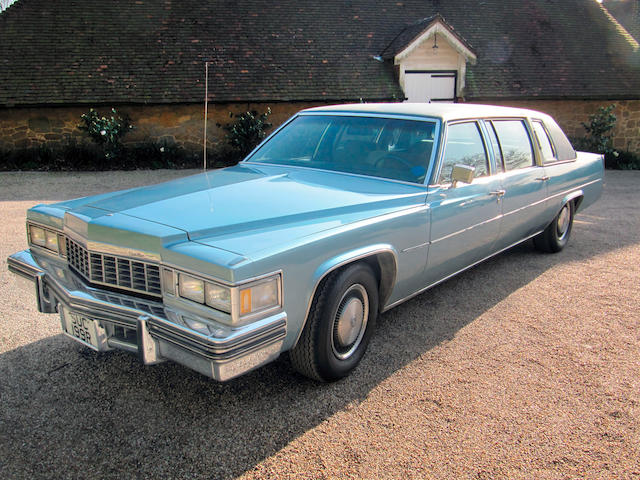 Left-hand drive,1977 Cadillac Fleetwood Limousine  Chassis no. 6F23S7Q254636