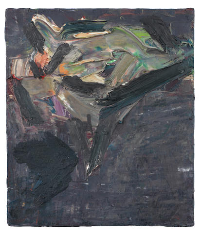 Frank Auerbach (British, born 1931) Reclining Head of J.Y.M. 33 x 27.5 cm. (13 x 10 3/4 in.)