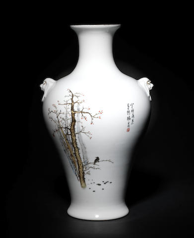 A famille rose vase (Zhao Hui Min)