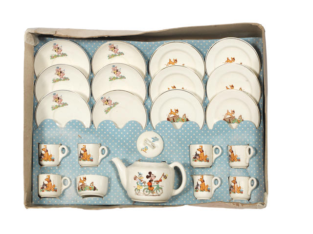 Boxed Beswick Disneyland nursery Tea set