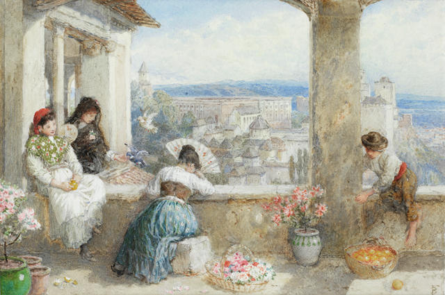 Myles Birket Foster, RWS (British, 1825-1899) The Alhambra, Granada, Spain