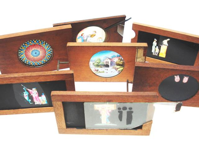 Rotating and Sliding magic lantern slides: