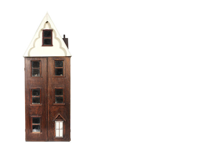 English wooden dolls house, early 20th Century