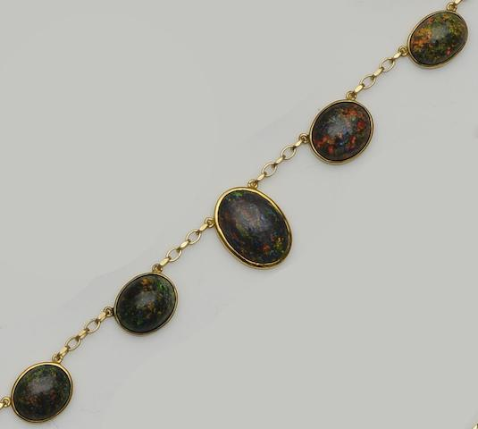 A black opal necklace,