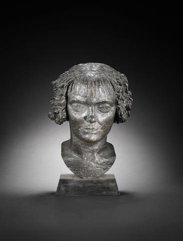 Sir Jacob Epstein (British, 1880-1959) Noneen (Head of a Girl) 35 cm. (13 3/4 in.) high (excluding base)