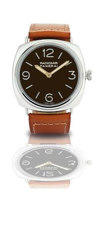 Officine Panerai. A fine and rare limited edition stainless steel manual wind wristwatchRadiomir 1938, Ref:PAM 232, Case No.I1199/1938, Circa 2006