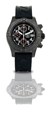 Breitling.  A fine limited edition stainless steel calendar chronograph automatic wristwatch Avenger Skyland Blacksteel, Ref:M13380, Case No.1286/2000, Circa 2008