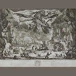 Jacques Callot (French, 1592-1635) The Temptation of St Anthony Etching, 1635, final fifth state with traces of the scratch between the devil's right claw and wing, on laid, with small margins, 355 x 465mm (14 x 18 1/4in)(PL)