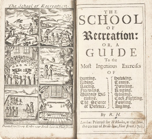 HOWLETT (ROBERT)] The School of Recreation, 1701