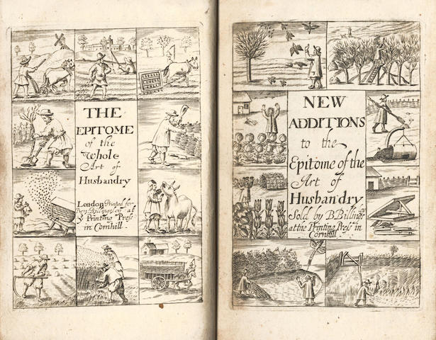 BLAGRAVE (JOSEPH)] The Epitomie of the Art of Husbandry [-Additions], 2 parts in one vol., 1685