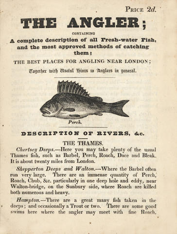 ANGLER The Angler; containing a complete description of all Fresh-water Fish, [c.1834]