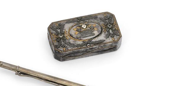 A little tula box, 19th century A cut-steel box, Tula, 19th century  width: 7.8cm (3 1/16in).