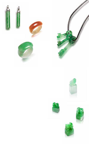A group of jadeite jewellery (9)