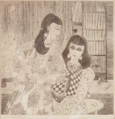 Abdur Rahman Chughtai (Pakistan, 1897-1975) In the Hostel,