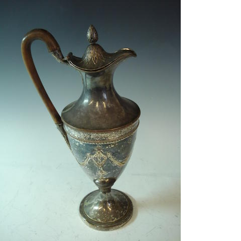 An Old Sheffield plated coffee pot of neo-classical design
