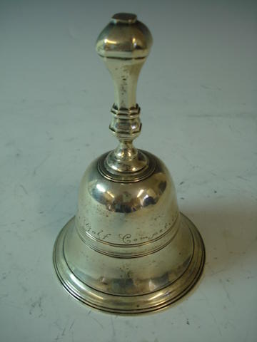 A silver presentation cast table bell by H. Lambert, London 1911