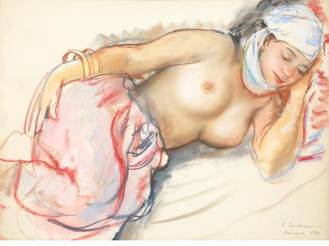 Zinaida Evgenievna Serebriakova (Russian, 1884-1967) Etude de femme