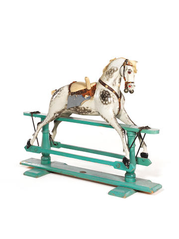 F.H Ayres Rocking horse, English circa 1900