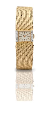 Patek Philippe. A fine 18ct gold diamond set lady's manual wind bracelet watchRef:3319/1, Case No.2651789, Movement No.995644, Made in 1969