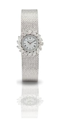 Vacheron Constantin. A fine 18ct white gold diamond set lady's manual wind bracelet watch Case No.433243, Circa 1960s