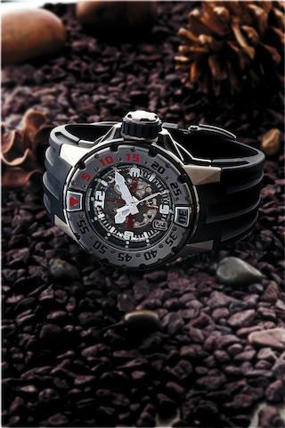 Richard Mille. A very fine and important diver's titanium calendar automatic wristwatchRM028, Recent