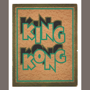 King Kong, RKO, 1933,  A rare original press book