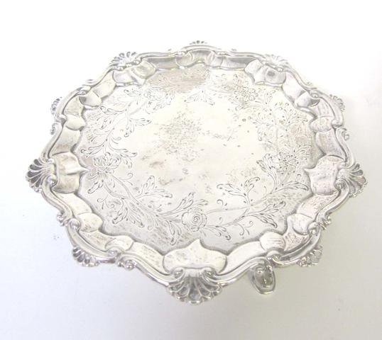 A George III silver  waiter by John Carter II London 1771  (3)