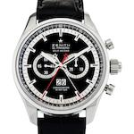 Zenith. A fine stainless steel split second chronograph automatic wristwatch El Primero Rattrapante, Ref:03.2050.402.6, Case No.104387, Circa 2010