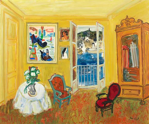 Carlos Nadal (1917-1998) Chambre jaune