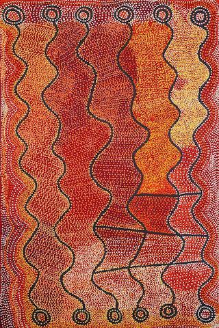 Shorty Jangala Robertson (born circa 1930) Ngapa Jukurrpa (Water Dreaming