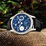 IWC. A very fine 18ct white gold perpetual calendar automatic wristwatch with double moon phases and 7 day power reserve Portuguese Perpetual Calendar, Ref:IW503203, Case No.3550942, Circa 2010