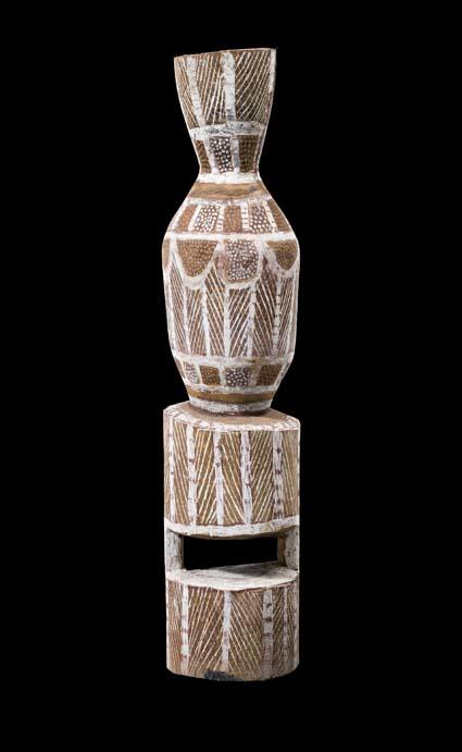 Artist Unknown A set of five small Tiwi Pukumani Grave Posts (Tudini)